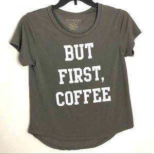   Fifth Sun   But First, Coffee Graphic T